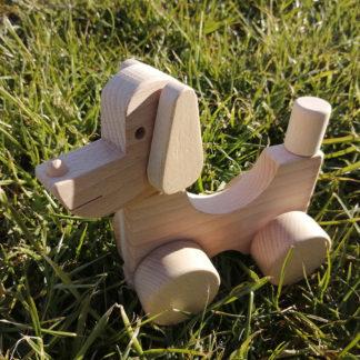 Dřevěný pes skládací